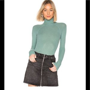 Free People All you want blue green bodysuit